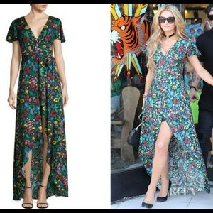 Alice + Olivia Floral Faux Wrap Maxi Dress Highlow